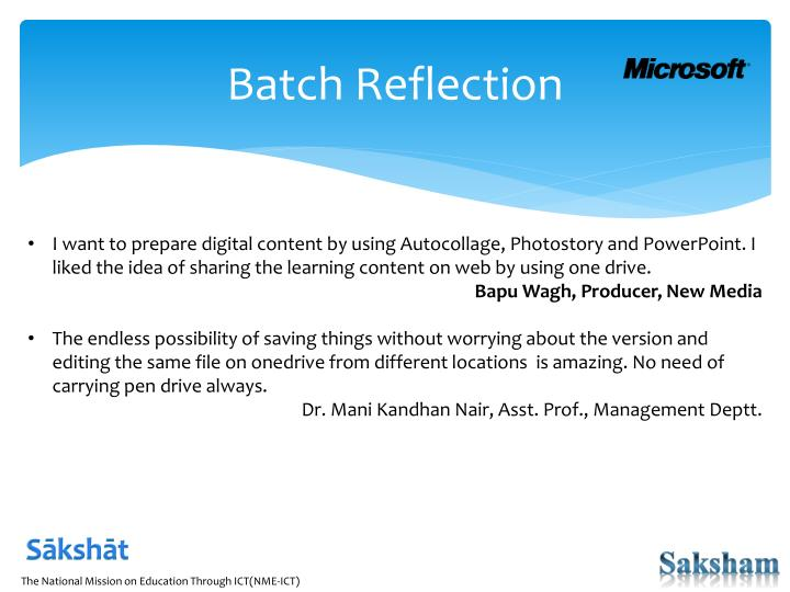 Batch Reflection