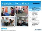 highlights mcu bhopal1