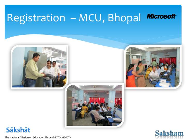 Registration  – MCU, Bhopal
