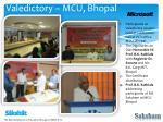 valedictory mcu bhopal
