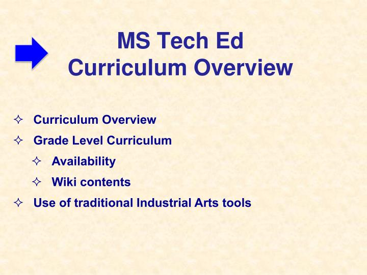 MS Tech Ed