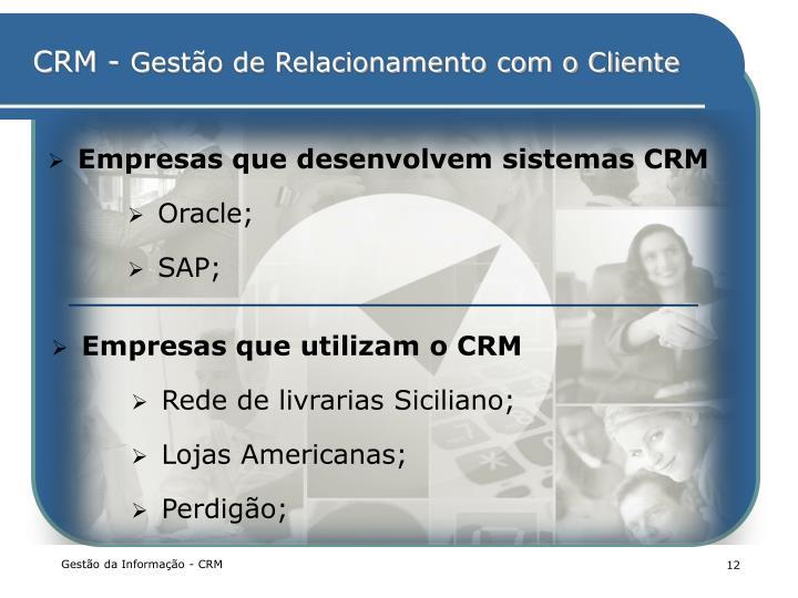 Empresas que desenvolvem sistemas CRM