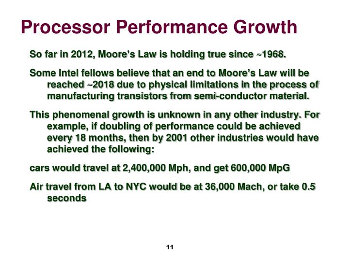 Processor Performance Growth