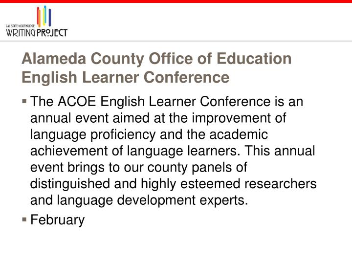 Alameda County Office of Education English