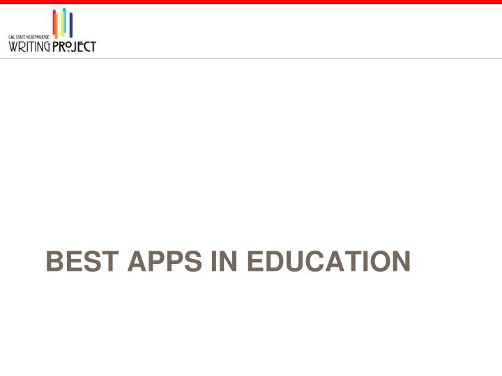 Best Apps in Education