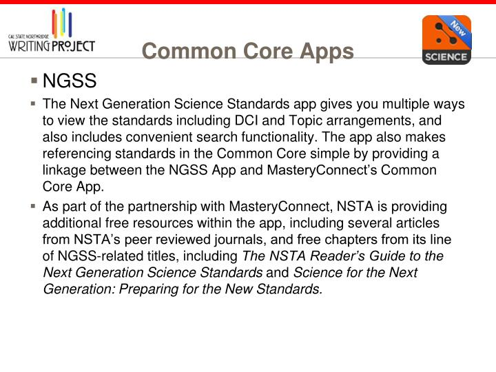 Common Core Apps