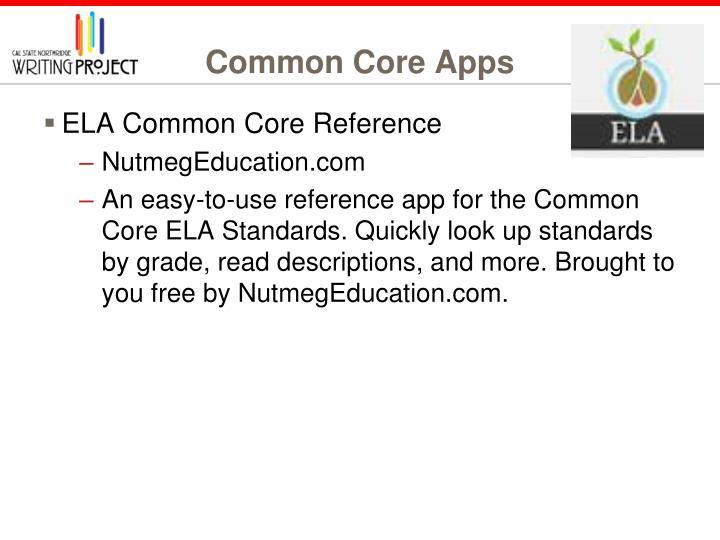 Common Core Apps