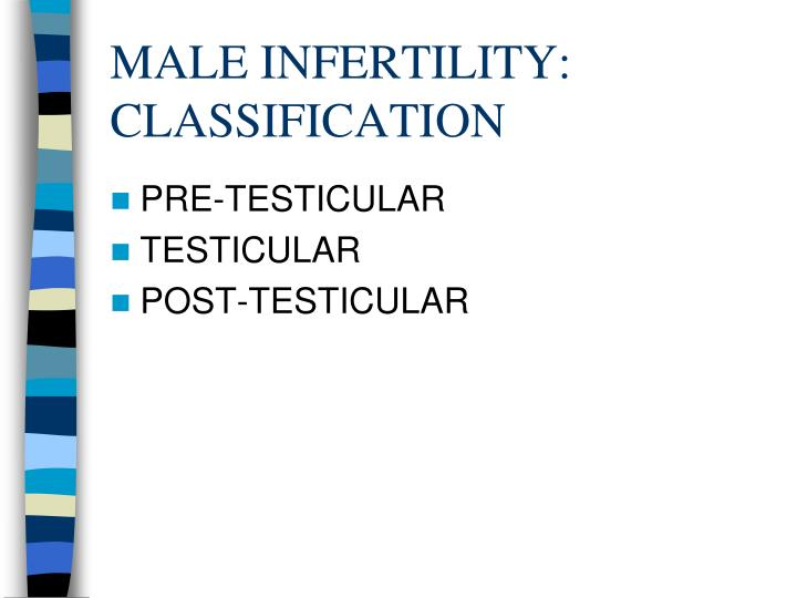 MALE INFERTILITY: