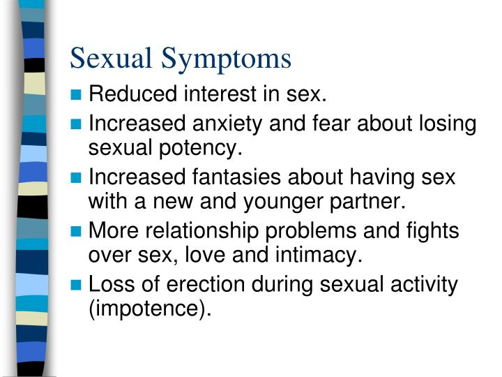 Sexual Symptoms
