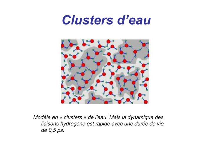 Clusters d'eau