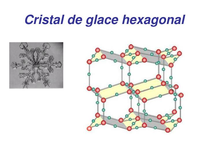 Cristal de glace hexagonal
