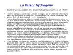 la liaison hydrog ne1
