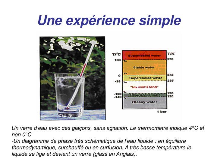 Une expérience simple