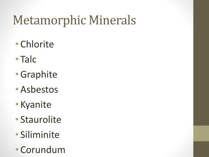 Metamorphic Minerals