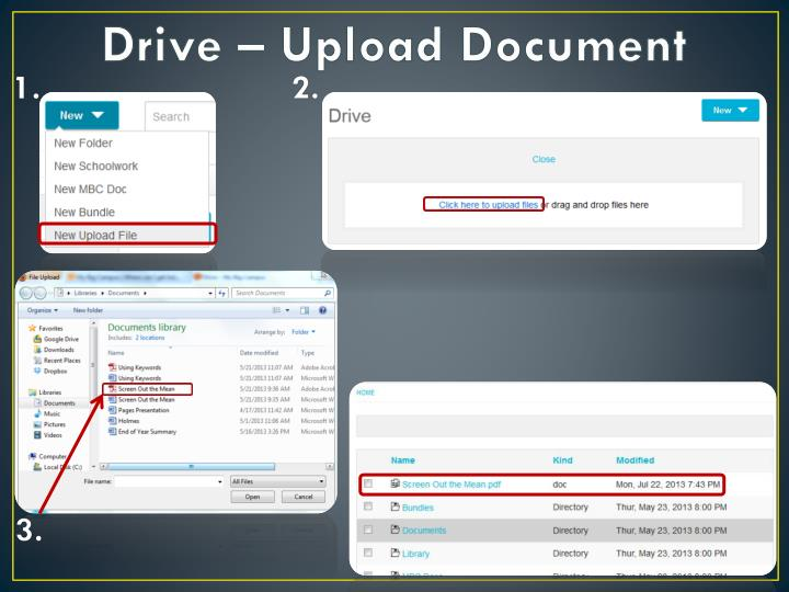 Drive – Upload Document