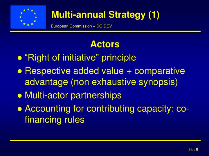 Multi-annual Strategy (1)