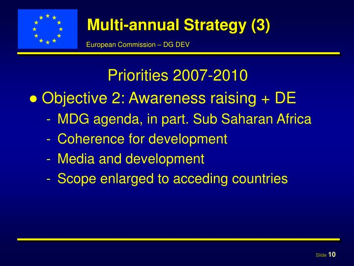 Multi-annual Strategy (3)