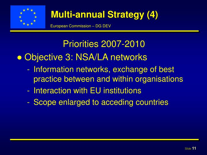 Multi-annual Strategy (4)