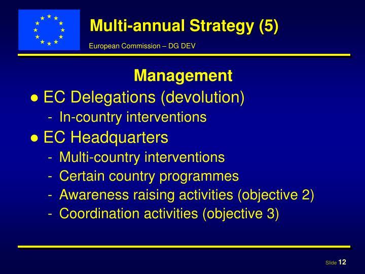 Multi-annual Strategy (5)