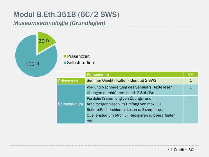 Modul B.Eth.351B (6C/2 SWS)