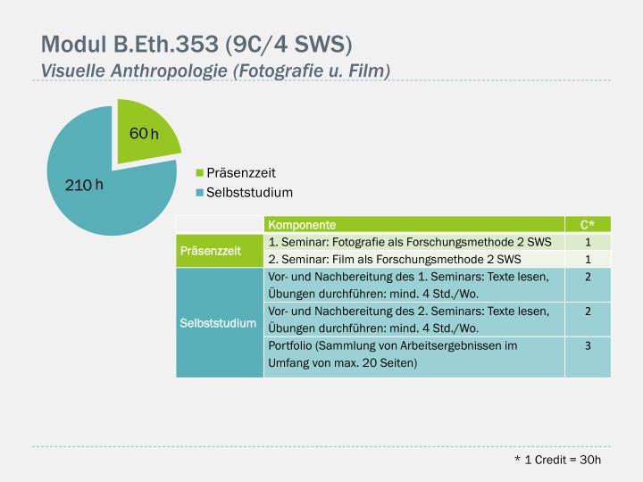 Modul B.Eth.353 (9C/4 SWS)