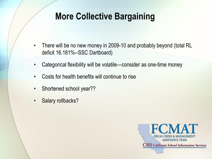 More Collective Bargaining