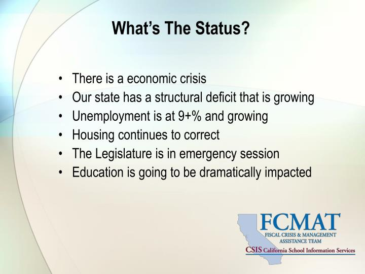 What's The Status?