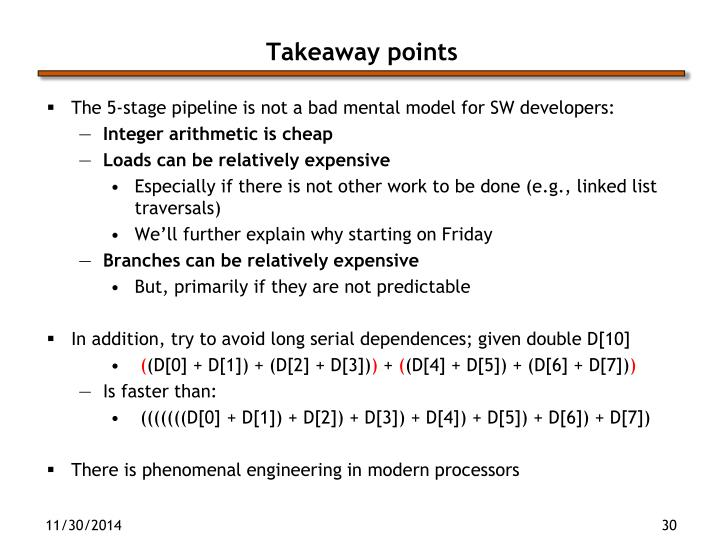 Takeaway points