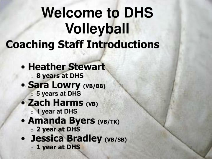 Welcome to DHS Volleyball