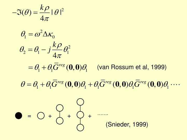 (van Rossum et al, 1999)