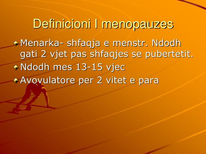 Definicioni I menopauzes