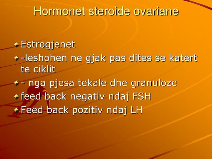 Hormonet steroide ovariane
