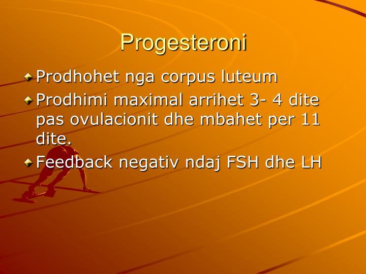 Progesteroni