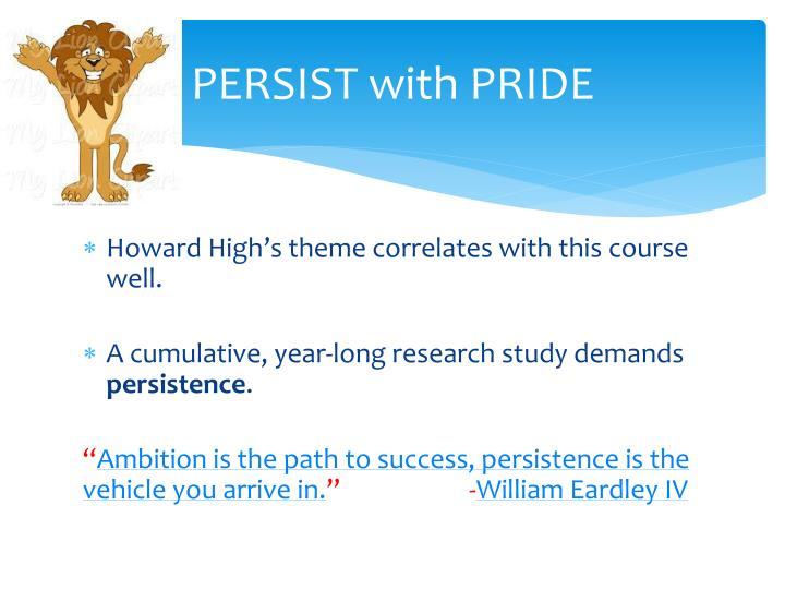 PERSIST with PRIDE