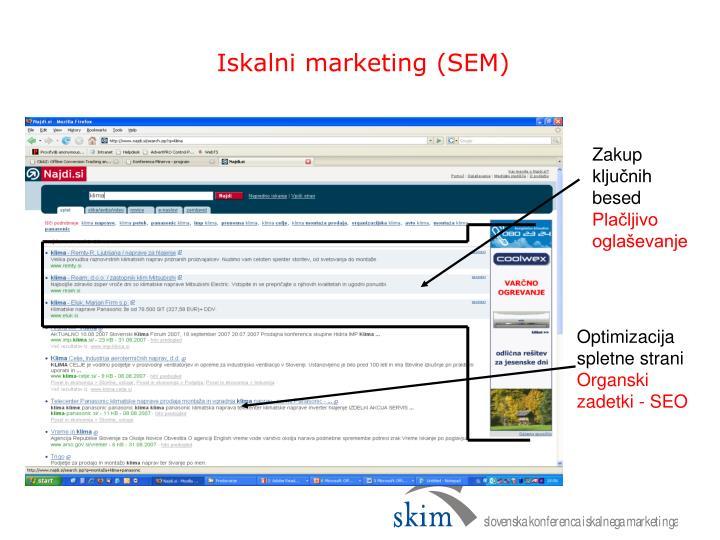 Iskalni marketing (SEM)