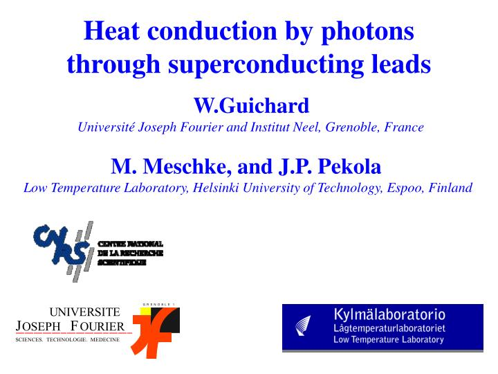 Heat conduction by photons through superconducting leads