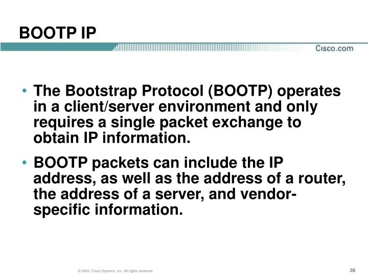 BOOTP IP