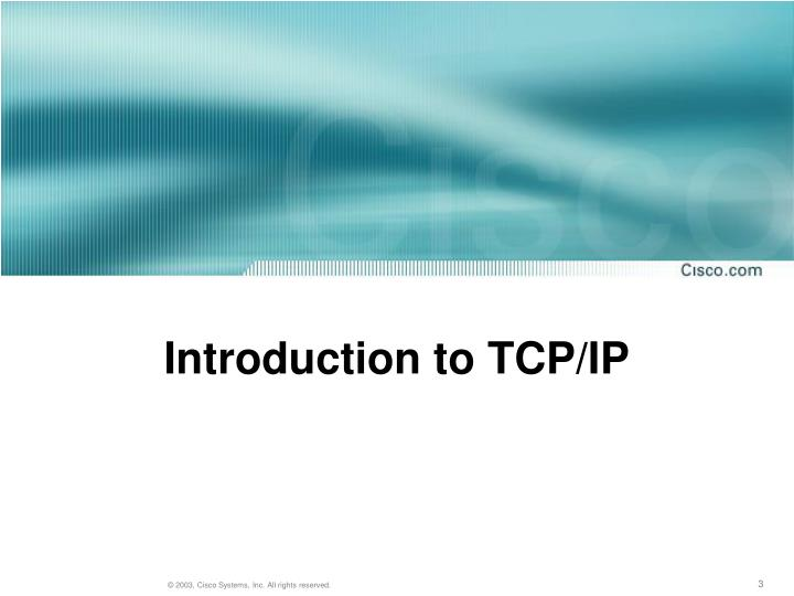 Introduction to tcp ip