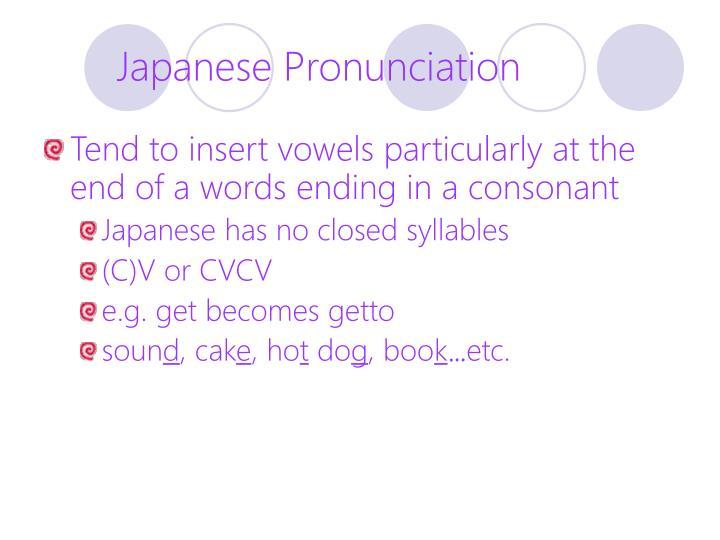 Japanese Pronunciation