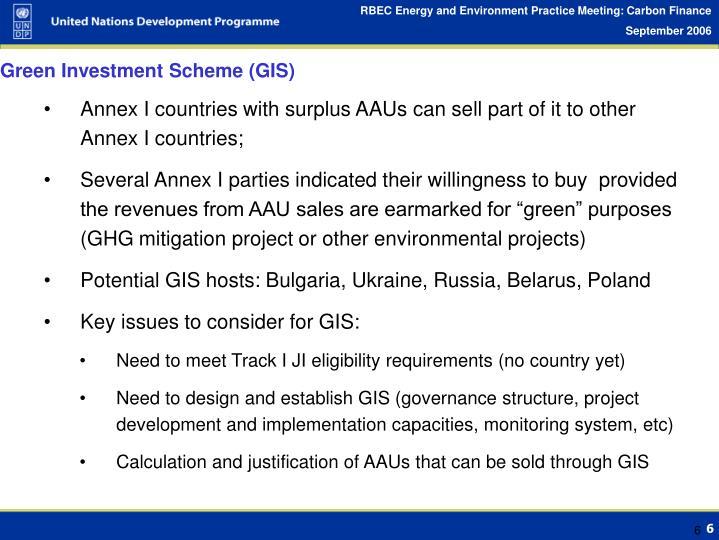 Green Investment Scheme (GIS)