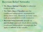 bayesian belief networks