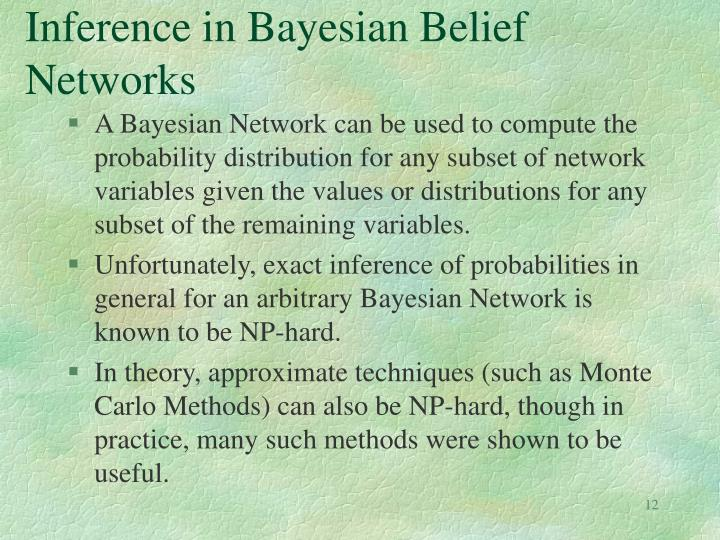 Inference in Bayesian Belief Networks