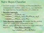na ve bayes classifier