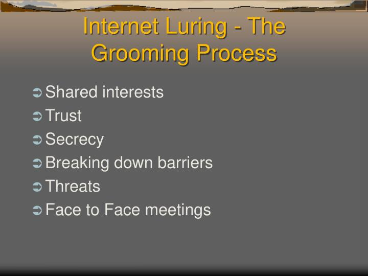 Internet Luring - The Grooming Process