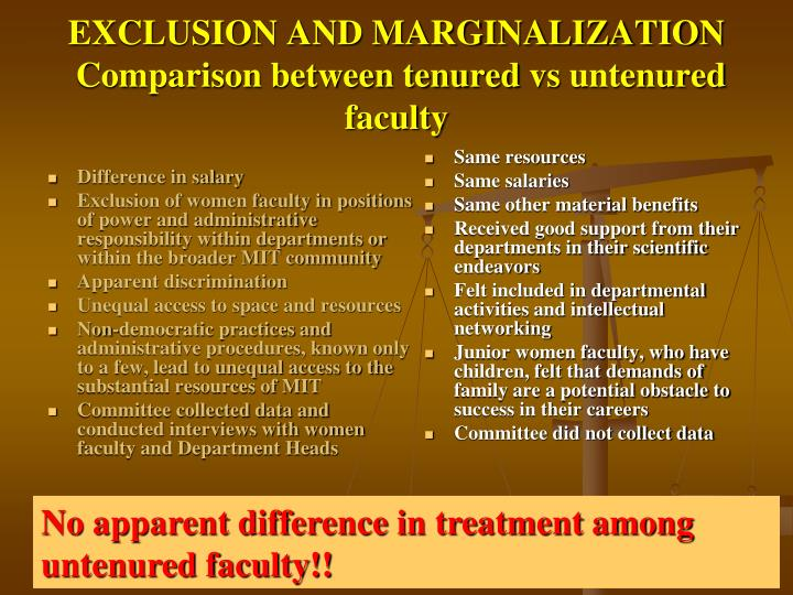 EXCLUSION AND MARGINALIZATION