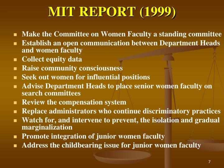 MIT REPORT (1999)