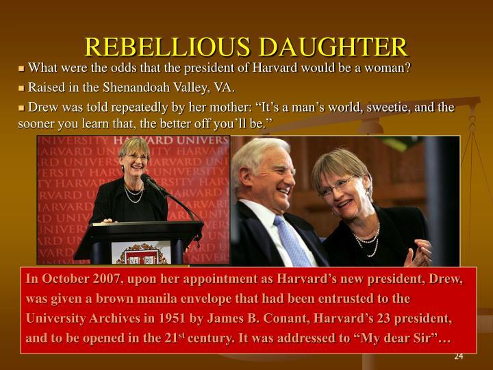 REBELLIOUS DAUGHTER