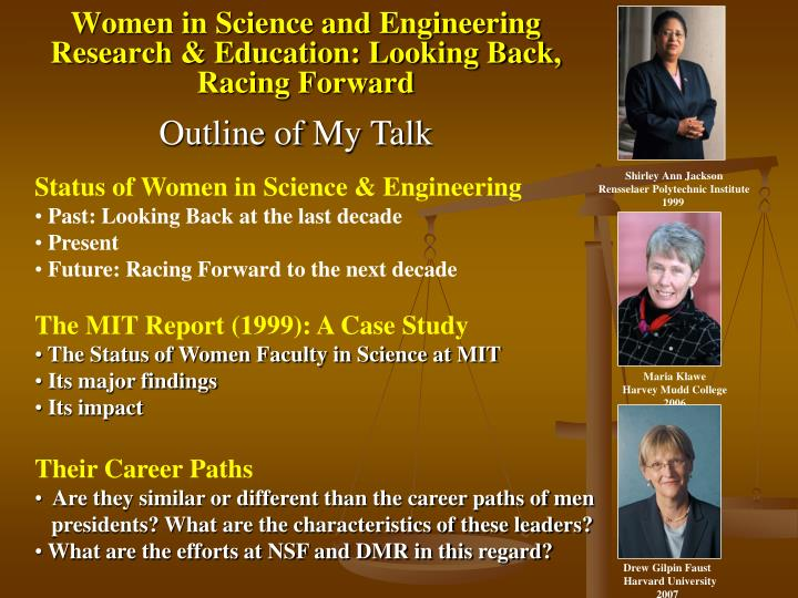 Women in science and engineering research education looking back racing forward1
