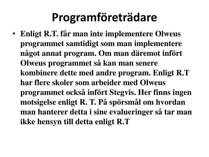 Programföreträdare