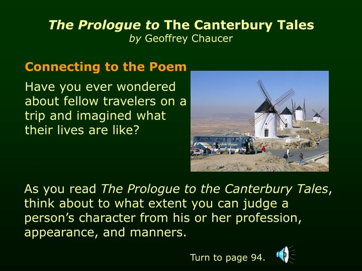 an analysis of canterbury tales by chaucers